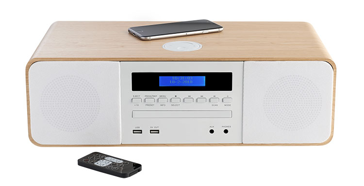 CD/MP3/USB/DAB+ micro system with wireless charger MIC201IDABBT THOMSON - Image