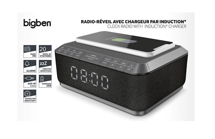 Clock radio with wireless charger RR140IG BIGBEN - Image  #2tutu#4tutu