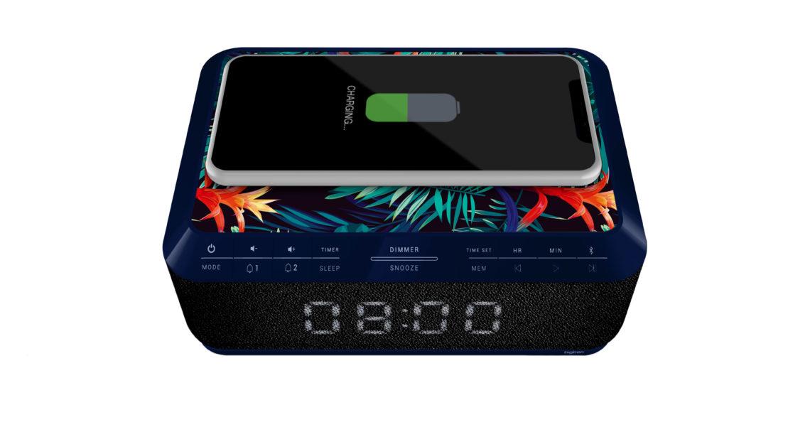 Clock radio with wireless charger RR140IJUNGLE BIGBEN - Image