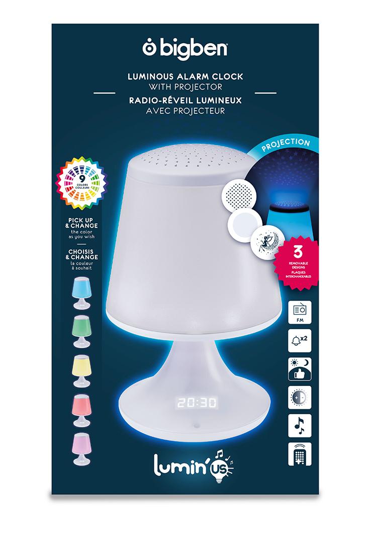 luminous alarm clock with projector - Image  #2tutu#4tutu#6tutu#8tutu