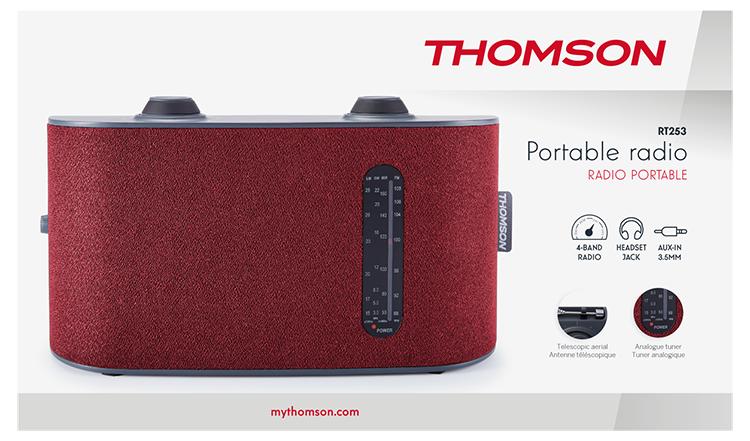 Portable radio 4 bands (red) RT250 THOMSON - Image  #2tutu#3