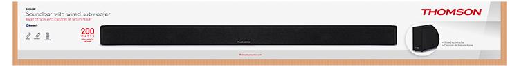 THOMSON soundbar with wired subwoofer SB250BT - Image  #2tutu#4tutu#6tutu#8tutu
