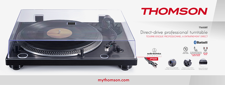 THOMSON direct-drive professionnal turntable TT600BT - Image  #2tutu#4tutu#6tutu#7