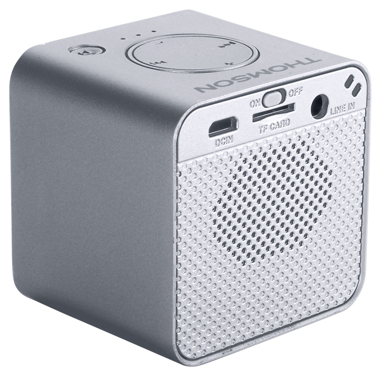Wireless portable speaker (metallic grey) WS01GM THOMSON - Image  #1