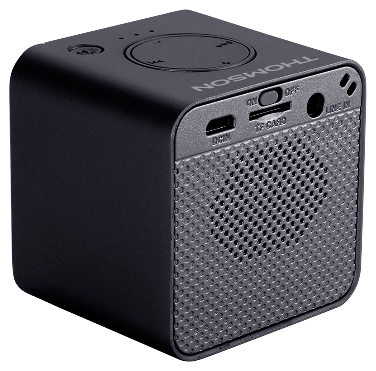 Wireless portable speaker (metallic black) WS01GM THOMSON - Image  #1
