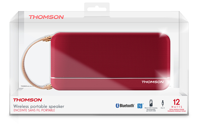 THOMSON Wireless Portable Speaker (red metallic) SB50BT - Image  #2tutu#3