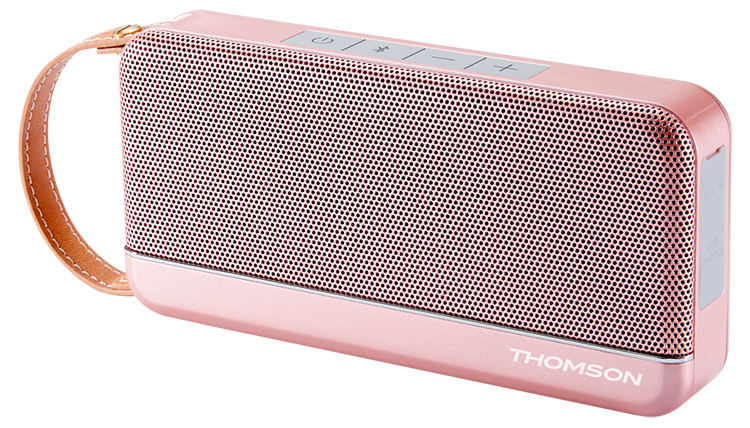 THOMSON Wireless Portable Speaker (pink metallic) - Image